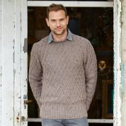 Stylecraft Mens Sweater & Cardigan Alpaca Tweed Knitting Pattern 9338  DK