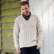 Stylecraft Mens Sweater & Cardigan Special With Wool Knitting Pattern 9341  Aran