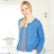 Stylecraft Ladies Cardigans Classique Cotton Knitting Pattern 9374  4 Ply