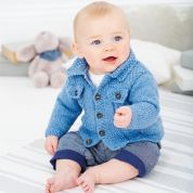 Stylecraft Baby Cardigan & Waistcoat Wondersoft Knitting Pattern 9387  DK