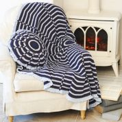 Stylecraft Home Throw & Cushion Jeanie Crochet Pattern 9400  Aran