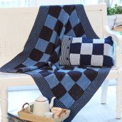 Stylecraft Home Blanket & Cushion Jeanie Crochet Pattern 9401  Aran