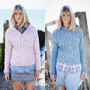 Stylecraft Ladies Sweaters Alpaca Tweed Knitting Pattern 9456  Chunky
