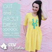 Sew Caroline Ladies Easy Sewing Pattern The Out And About Dress