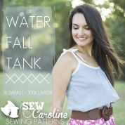 Sew Caroline Ladies Easy Sewing Pattern Waterfall Tank