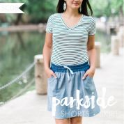 Sew Caroline Ladies Sewing Pattern Parkside Shorts & Skirt