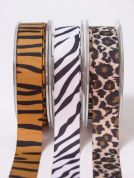 May Arts Zebra Animal Print Grosgrain Ribbon