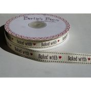 Bertie's Bows Baked with Love Grosgrain Ribbon