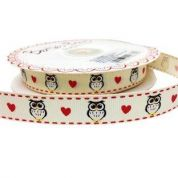 Bertie's Bows Owl & Heart Grosgrain Ribbon