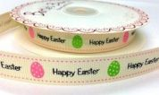 Bertie's Bows Happy Easter Print Grosgrain Ribbon