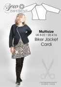 Sew Different Ladies Sewing Pattern Biker Jacket Cardi