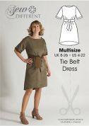 Sew Different Ladies Sewing Pattern Tie Belt Dress
