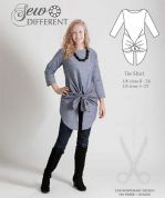 Sew Different Ladies Sewing Pattern Tie Shirt