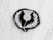 Scottish Thistle Badge Motifs  Black & White