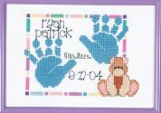 Janlynn Counted Cross Stitch Kit Baby Handprints Birth Announcement