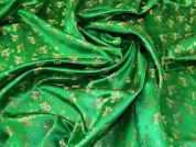 Metallic Brocade Fabric  Green