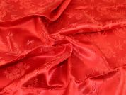 Chinese Satin Brocade Fabric  Red