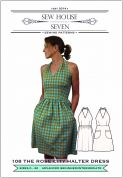 Sew House Seven Ladies Sewing Pattern The Rose City Halter Dress