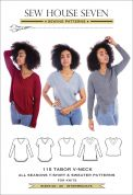 Sew House Seven Sewing Pattern Tabor V Neck Top