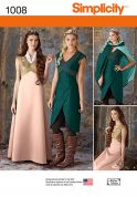 Simplicity Ladies Sewing Pattern 1008 Game of Thrones Style Dresses