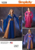 Simplicity Ladies Sewing Pattern 1009 Game of Thrones Style Dresses