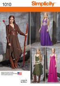 Simplicity Ladies Sewing Pattern 1010 Game of Thrones Style Dresses