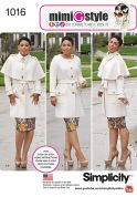 Simplicity Ladies Sewing Pattern 1016 Coats with Cape