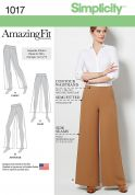 Simplicity Ladies Sewing Pattern 1017 Amazing Fit Wide Leg Trousers