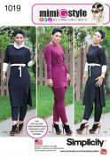Simplicity Ladies Sewing Pattern 1019 Tunic, Pants, Belt & Cowl
