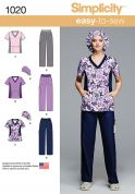 Simplicity Ladies Easy Sewing Pattern 1020 Top, Pants & Hat Uniforms