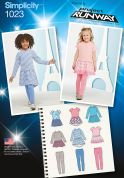 Simplicity Girls Sewing Pattern 1023 Dresses & Leggings