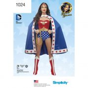 Simplicity Ladies Sewing Pattern 1024 Wonder Woman Costume
