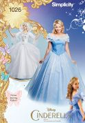 Simplicity Ladies Sewing Pattern 1026 Disney Cinderella Dresses