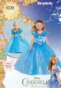 Simplicity Girls & Dolls Sewing Pattern 1028 Disney Cinderella Dresses