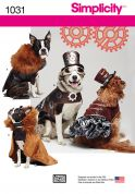 Simplicity Pets Sewing Pattern 1031 Dog Coats & Hats