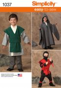 Simplicity Boys Easy Sewing Pattern 1037 Fancy Dress Costumes