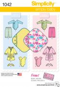 Simplicity Baby Easy Sewing Pattern 1042 Baby Wardrobe
