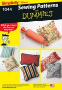 Simplicity Homeware Easy Sewing Pattern 1044 Cushions