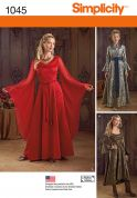 Simplicity Ladies Sewing Pattern 1045 Historical Style Dresses Costumes