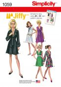 Simplicity Ladies Easy Sewing Pattern 1059 Vintage Style Dresses