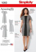 Simplicity Ladies Sewing Pattern 1060 Amazing Fit Panelled Dresses
