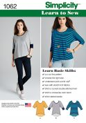 Simplicity Ladies Easy Learn to Sew Sewing Pattern 1062 Jersey Knit Tops