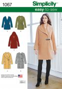 Simplicity Ladies Easy Sewing Pattern 1067 Coats & Jackets