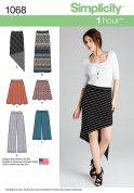 Simplicity Ladies Easy Sewing Pattern 1068 Skirts & Trousers