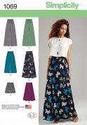 Simplicity Ladies Sewing Pattern 1069 Skirts & Wide Leg Trousers
