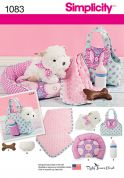 Simplicity Crafts Sewing Pattern 1083 Puppy Soft Toy & Accessories