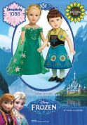 Simplicity Doll Clothes Easy Sewing Pattern 1088 Disney Frozen Dresses