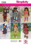 Simplicity Doll Clothes Easy Sewing Pattern 1089 Complete Wardrobe
