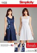 Simplicity Ladies Sewing Pattern 1103 Panelled Dresses in 4 Styles