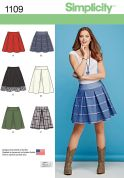 Simplicity Ladies Easy Sewing Pattern 1109 Pleated Skirts in 6 Styles